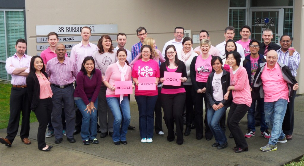 Seon supports pink shirt day anti-bullying
