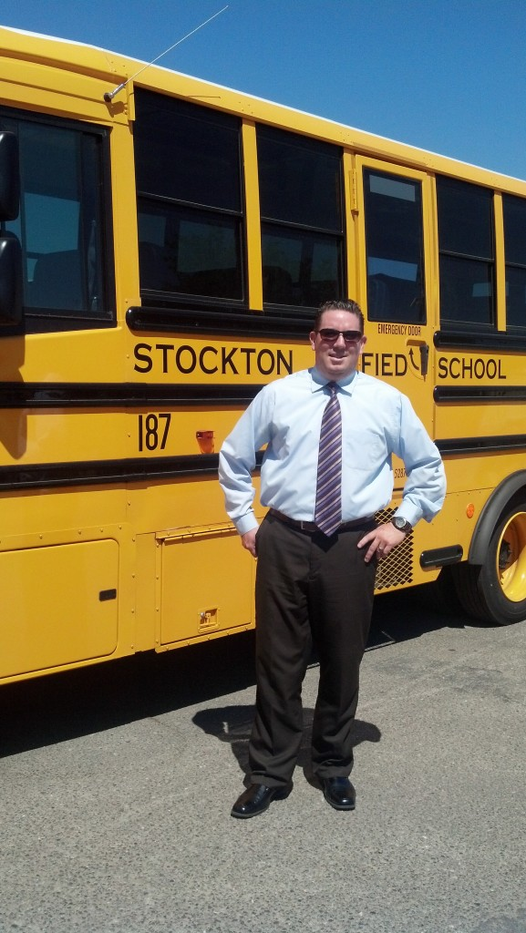 Stockton USD's Director of Transportation, Carlos Chicas