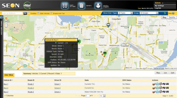 Seon, live vehicle information, real-time data