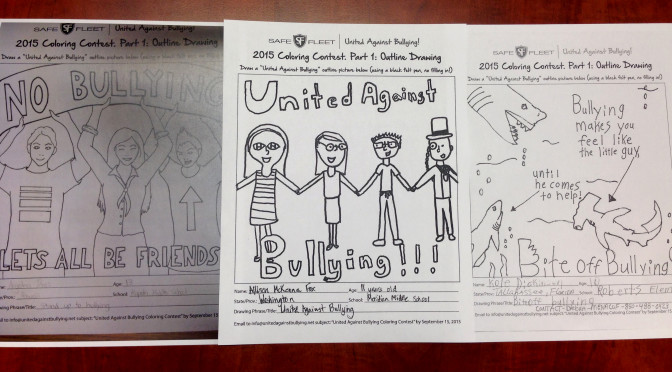 Creativity Helps Stop Bullying:  Results of United Against Bullying Coloring Contest, Part 1