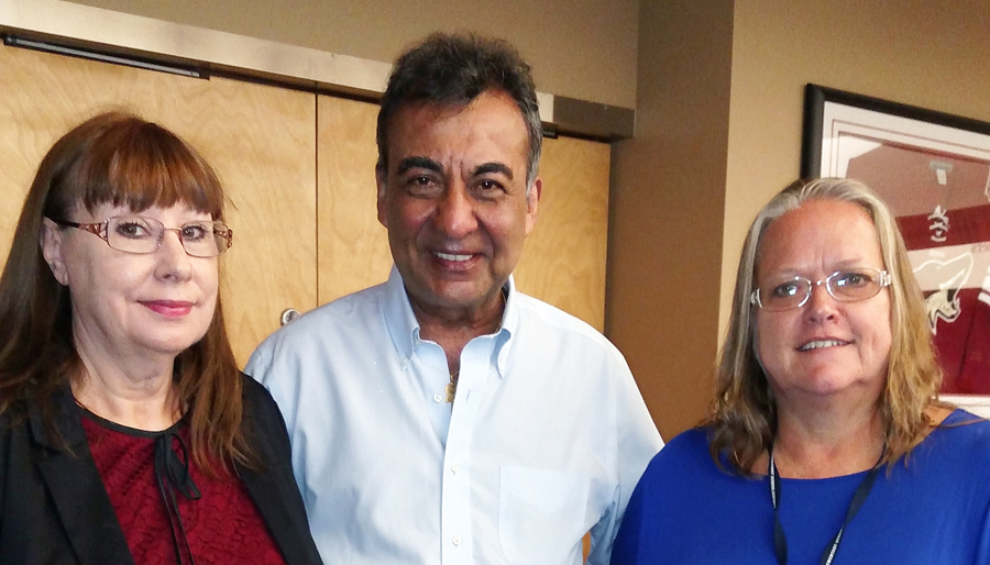 From left to right: Donna Webb, Azim Khamisa, and Doris Bean.
