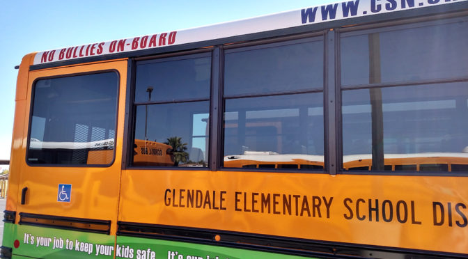 School Bus at Glendale Elementary School