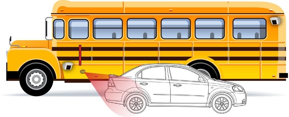 Vehicle illigally passing SB
