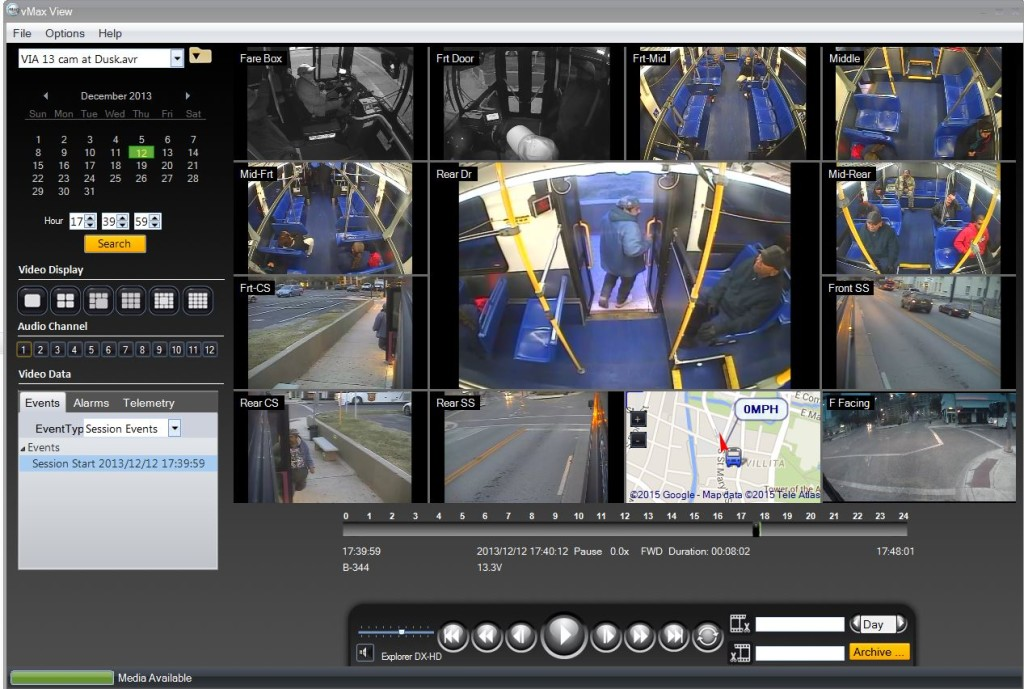 Seon, video surveillance, cameras for transit